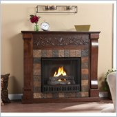 Holly & Martin Calgary Gel Fireplace in Espresso