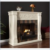 Holly & Martin Calgary Gel Fireplace in Ivory