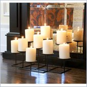 Holly & Martin Campbell Metal Candelabra in Black Matte