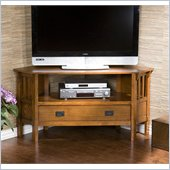 Holly & Martin Carrollton Corner Media Stand in Dark Oak