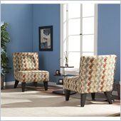 Holly & Martin Chappell Hill Chairs/Pillows in Clover Aegean