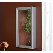 Holly & Martin Chloe Wall-Mount Jewelry Mirror in Silver