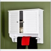 Holly & Martin Clara Louvered Doors Towel Cabinet in Frost White