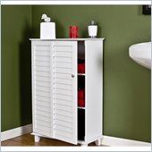 Holly & Martin Clara Louvered Doors Towel Safe in Frost White