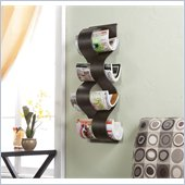 Holly & Martin Coastal Wall Mount Magazine Rack in Hand Painted Brown
