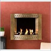 Holly & Martin Collins Wall Mount Fireplace in Antique Gold Brushed