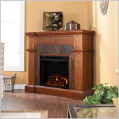 Holly & Martin Cypress Electric Fireplace in Mission Oak