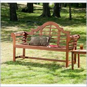 Holly & Martin Davis Bench in Dark Brown Wood Stain