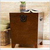 Holly & Martin Dorset Trunk End Table in Espresso