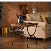 Holly & Martin Edinburgh End Table in Black and Antique Espresso