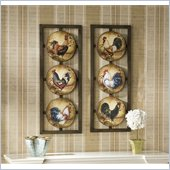 Holly & Martin Emmitt 2 Piece Wall Panel Set in Lithographed & Hand Painted