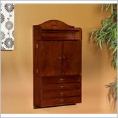 Holly & Martin Evangeline Wall-Mount Jewelry Armoire in Rich Cherry