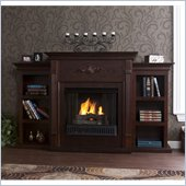 Holly & Martin Fredricksburg Gel Fireplace w/ Bookcases in Espresso