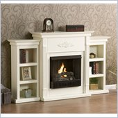 Holly & Martin Fredricksburg Gel Fireplace w/ Bookcases in Ivory