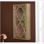 Holly & Martin Gabriella Wall-Mount Jewelry Mirror in Weathered Oak