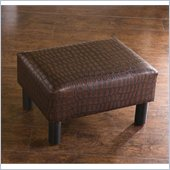 Holly & Martin Gerard Foot Stool in Faux Alligator Leather
