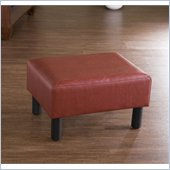 Holly & Martin Gerard Foot Stool in Faux Red Leather