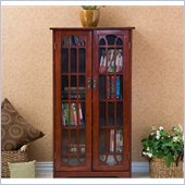 Holly & Martin Grayson Window Pane Media Cabinet in Cherry