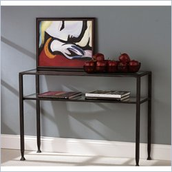 Holly & Martin Guthrie Metal Sofa Table in Distressed Black