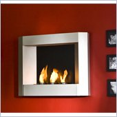 Holly & Martin Hallston Wall Mount Fireplace in Silver