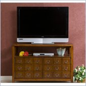 Holly & Martin Hamilton Double-Door Media Stand in Brown Mahogany