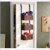Holly & Martin Hazel Over-the-Door 3-Tier Basket Storage in Espresso