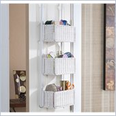 Holly & Martin Hazel Over-the-Door 3-Tier Basket Storage in White