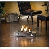 Holly & Martin Hudson Portable Indoor/Outdoor Gel Fireplace in Clear Glass