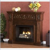 Holly & Martin Huntington Gel Corner Fireplace in Espresso