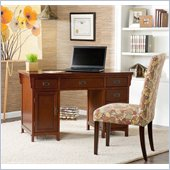 Holly & Martin Landon Computer Desk in Brown Mahogany