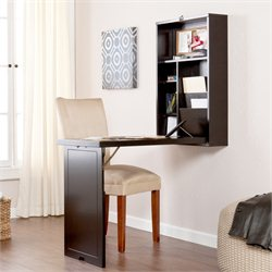 Holly & Martin Leo Fold-Out Convertible Desk in Black