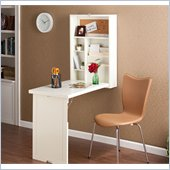 Holly & Martin Leo Fold-Out Convertible Desk in Winter White