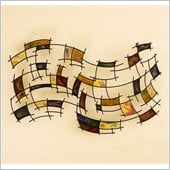 Holly & Martin Levi Black Grid w/ Hand Painted Vibrant Panels Wall Art
