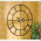 Holly & Martin Lucas Decorative Black Powder-Coated Metal Wall Clock
