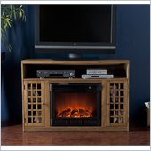 Holly & Martin Mason Media Electric Fireplace in Weathered Oak