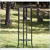 Holly & Martin Mercer Hurricane Metal Lantern in Black