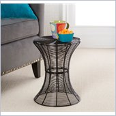 Holly & Martin Metal Spiral Accent Table in Black