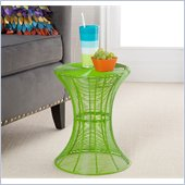 Holly & Martin Metal Spiral Accent Table in Green