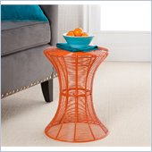 Holly & Martin Metal Spiral Accent Table in Orange