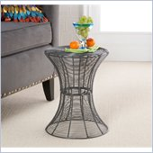 Holly & Martin Metal Spiral Accent Table in Silver