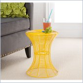 Holly & Martin Metal Spiral Accent Table in Yellow
