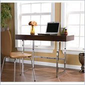 Holly & Martin Micah Desk in Espresso and Chrome