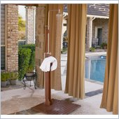 Holly & Martin Mirabella Outdoor Shower in Dark Brown Wood