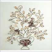 Holly & Martin Monarch Hand Painted Centerpiece Wall Sculpture