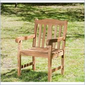 Holly & Martin Monroe Arm Chair in Light Brown Teakwood Stain