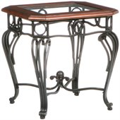 Holly & Martin Newcastle End Table in Black and Cherry