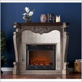 Holly & Martin Oakhurst Electric Fireplace in Burnt Oak