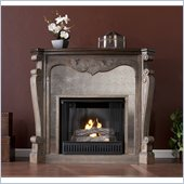 Holly & Martin Oakhurst Gel Fireplace in Burnt Oak