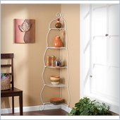 Holly & Martin Oakley Corner Etagere in White