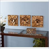 Holly & Martin Oleander 3 Piece Wall Panel Set with Butterflies